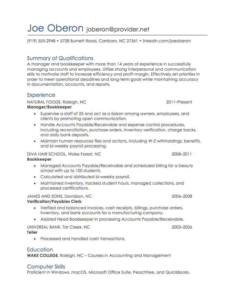 Employment resume examples examples of resumes for Remote resume writer