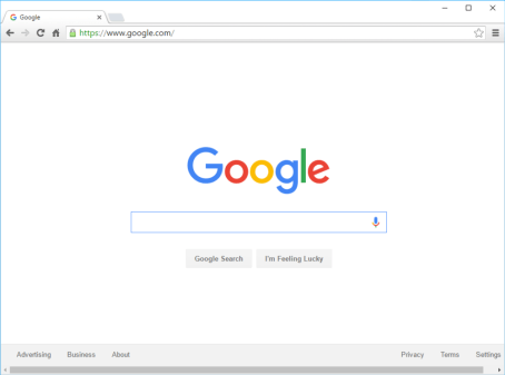 the google chrome web browser
