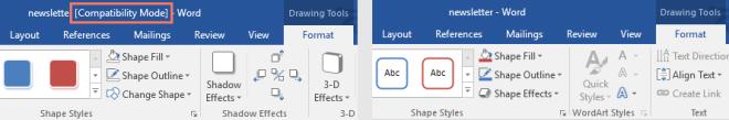 compatibility mode vs normal mode - www.office.com/setup