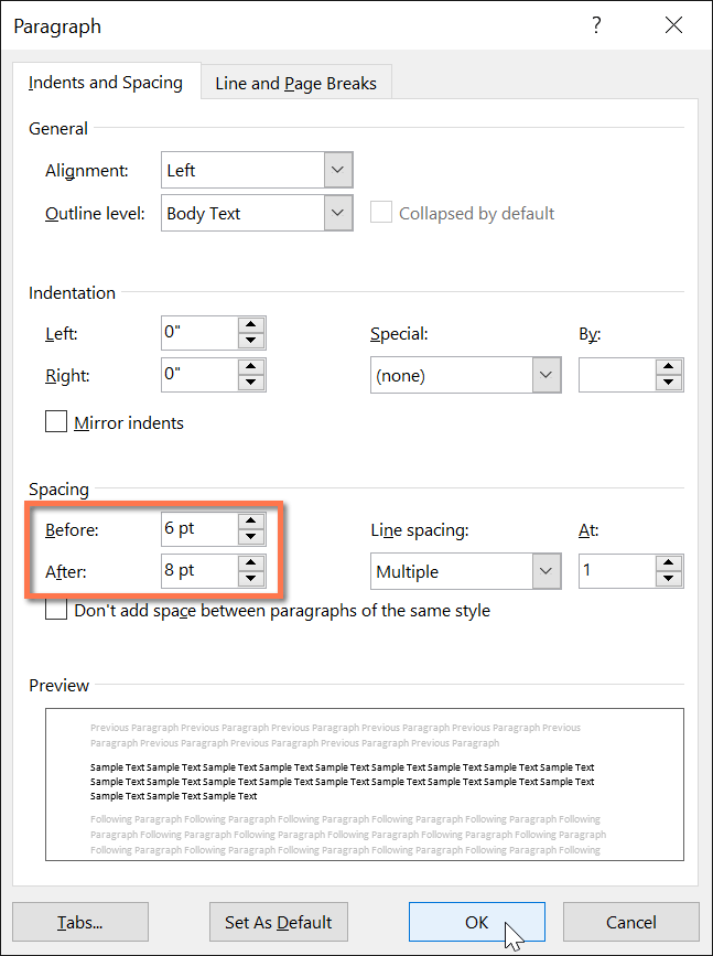 Where Is Line Spacing In Word : where, spacing, 2016:, Paragraph, Spacing