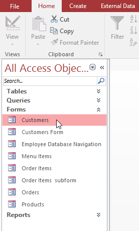 Clicking a form in the Navigation Bar - www.office.com/setup