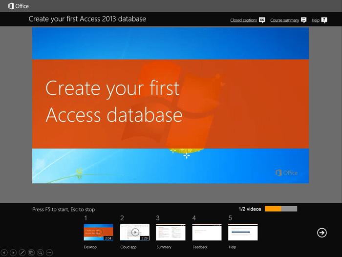 Microsoft's Access Basics Training