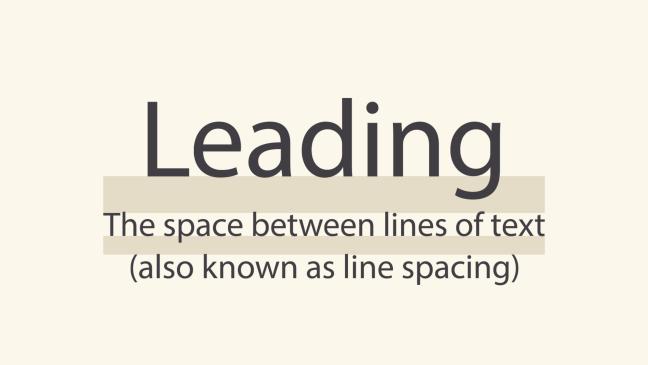 distancia entre líneas o líneas