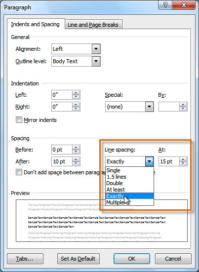 Where Is Line Spacing In Word : where, spacing, 2010:, Paragraph, Spacing
