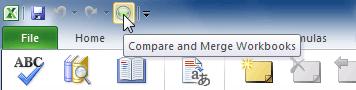 Compare and Merge Workbooks command