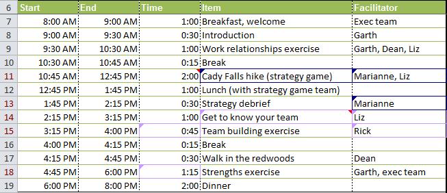Worksheet after merging changes