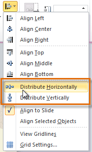 Choosing a distribute option