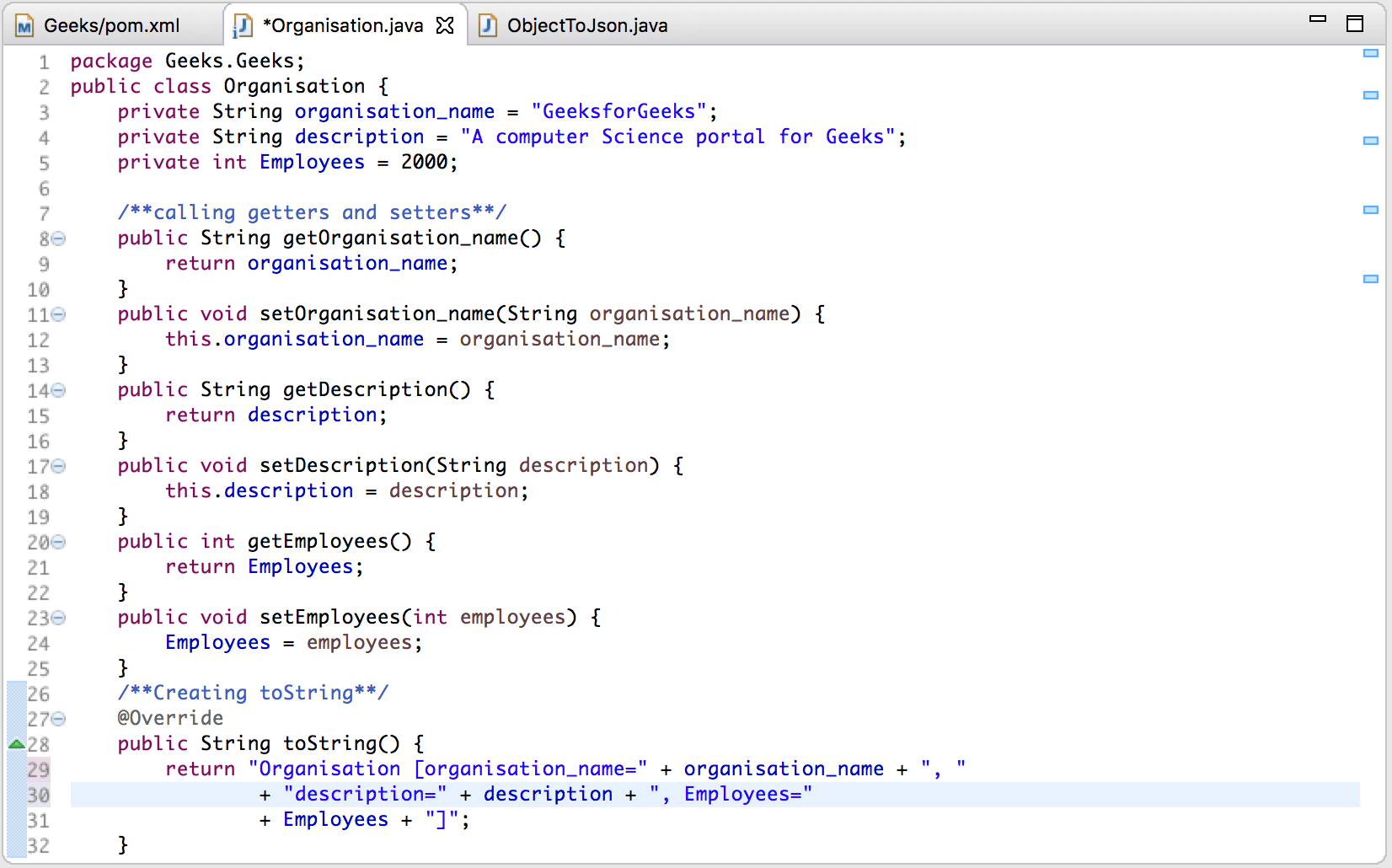 Convert Java Object To Json String Using Jackson Api