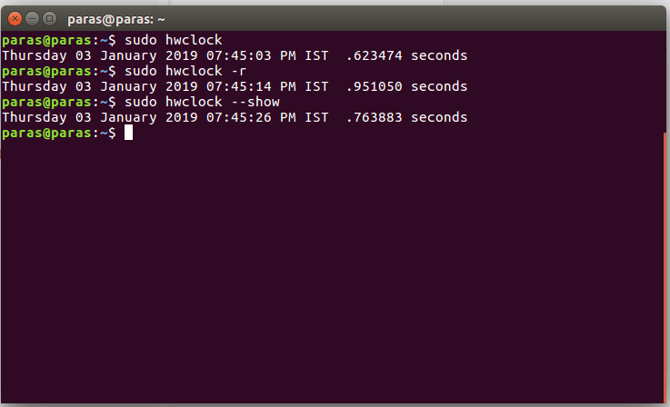 hwclock command in Linux with examples - GeeksforGeeks