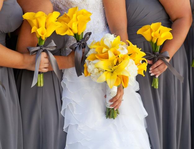Fleurs express au jardin pour mariage en t