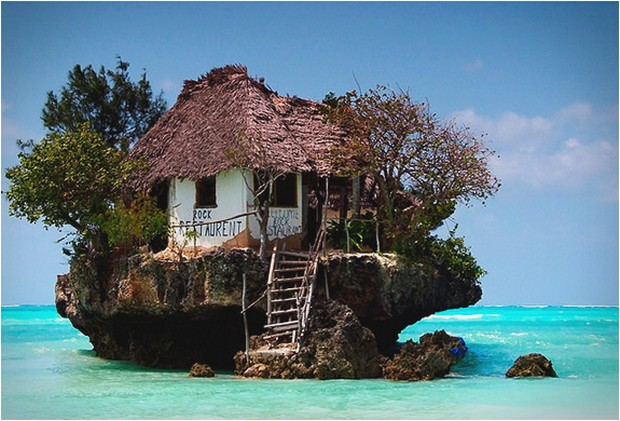 Honeymoon Destination-The-Rock-Restaurant-in-Zanzibar-1