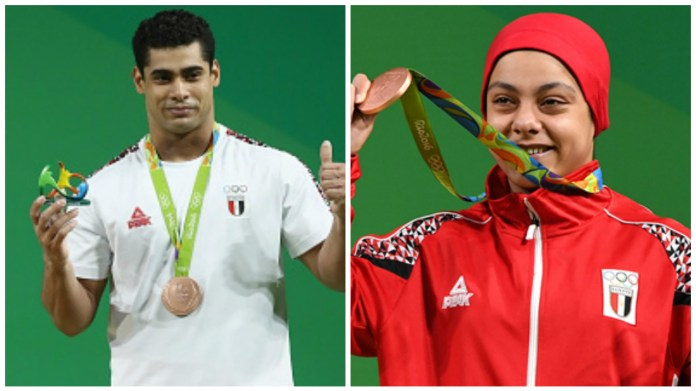 Egyptian Champs Sara Samir and Mohamed Ehab