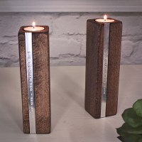 Personalised Wooden Candle Holders