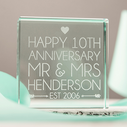 10th Tin Wedding Anniversary Gifts  GettingPersonalcouk