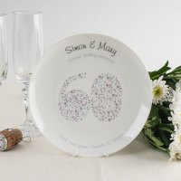 Personalised Bone China Plate - Diamond Anniversary ...