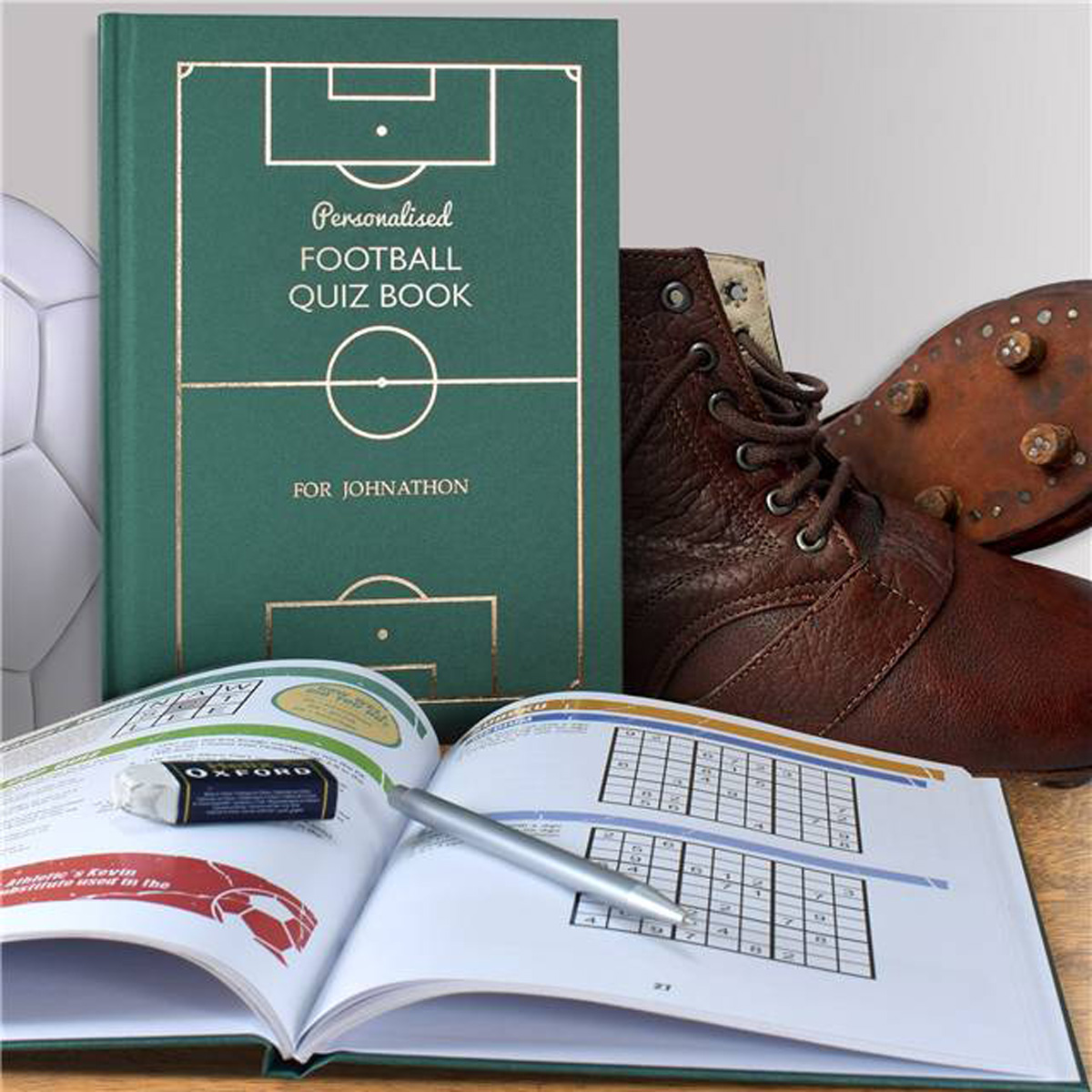 Personalised Football Quiz Book For Your Team