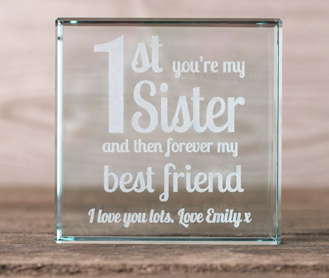 Personalised Glass Token St Youre My Sister Forever Best Friend