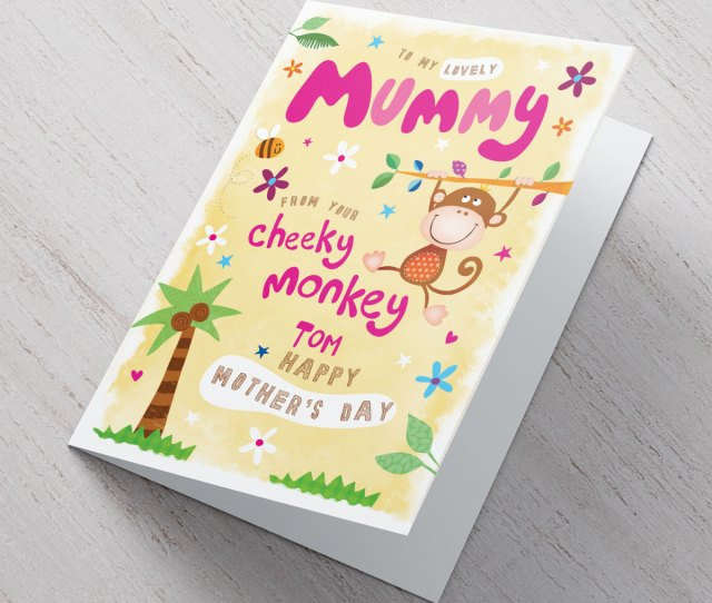 Personalised Mothers Day Card From Your Cheeky Monkey