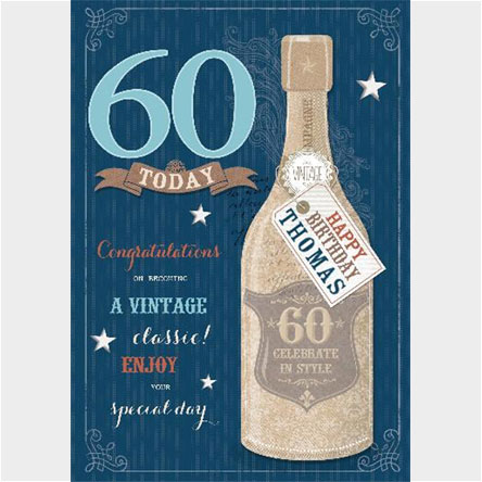 Personalised 60th Birthday Cards From 99p