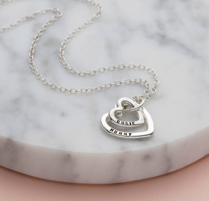 Mummy And Baby Heart Necklace