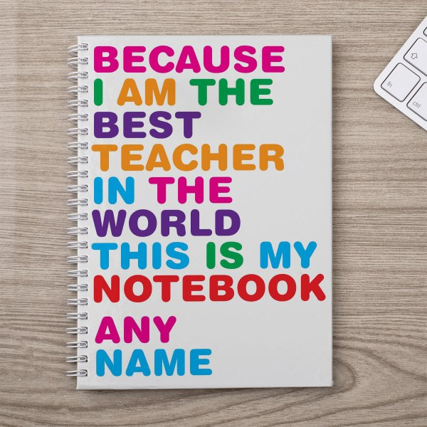 Personalised Notebook - World' Teacher