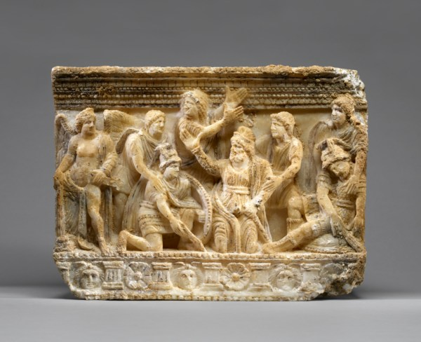 Cinerary Urn With Aeneas And Turnus Getty Museum