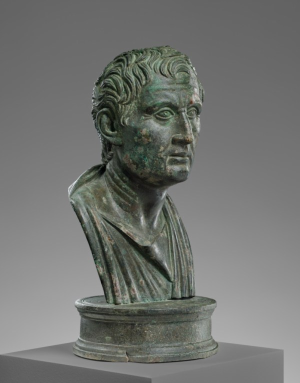 Portrait Bust Of Menander Getty Museum