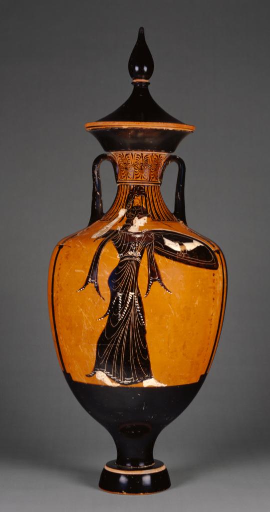 Attic Panathenaic Amphora with Lid Getty Museum