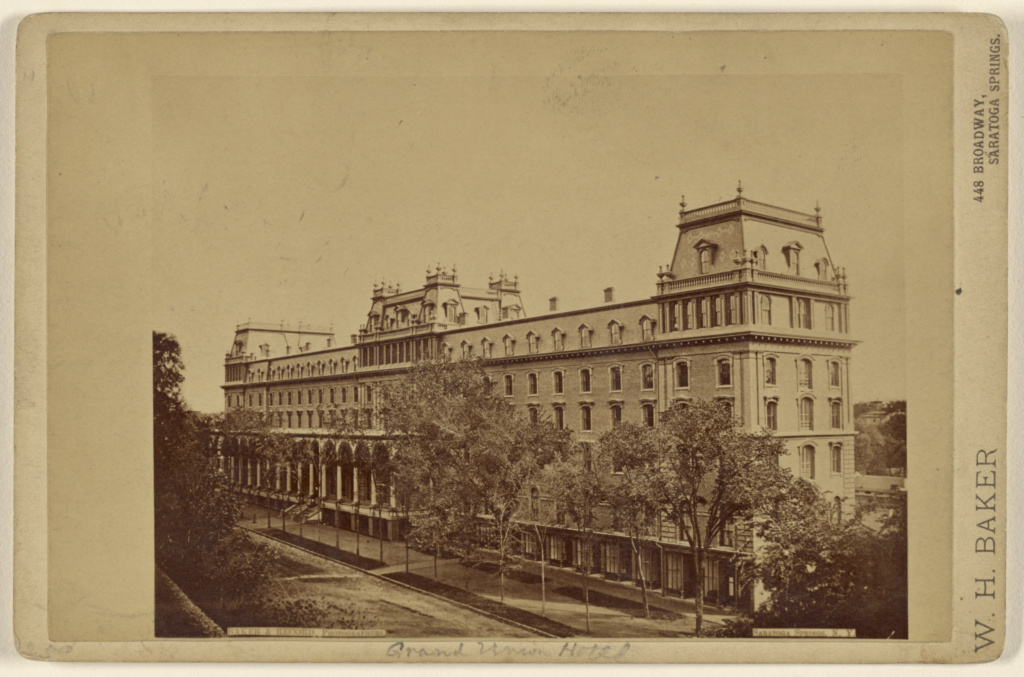 Grand Union Hotel At Saratoga Springs N Y Getty Museum