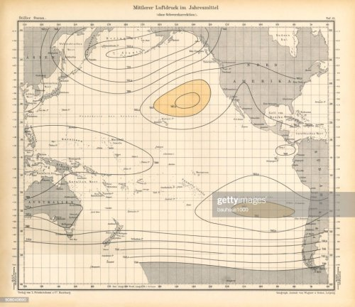 small resolution of annual mean air pressure chart pacific ocean german antique victorian engraving 1896