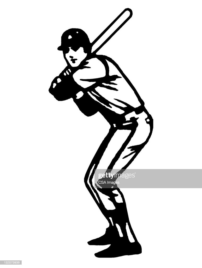hight resolution of baseball batter silhouette clip art