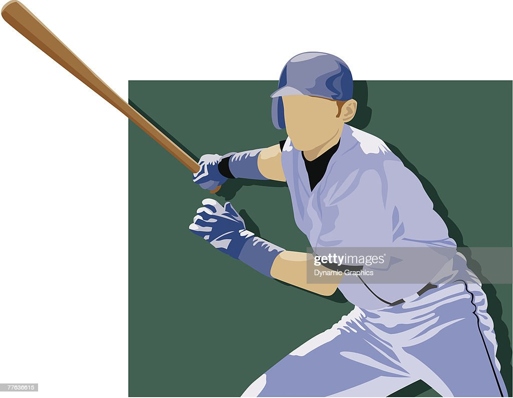 hight resolution of baseball batter clipart vectoriel