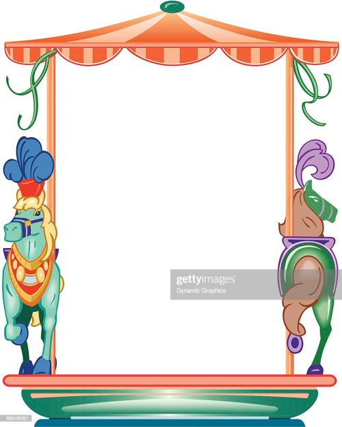 small resolution of border carousel horses color layered also available in black and white 046 9807