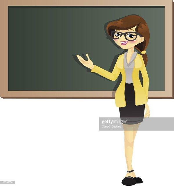 Brunette Teacher Vector Art Getty