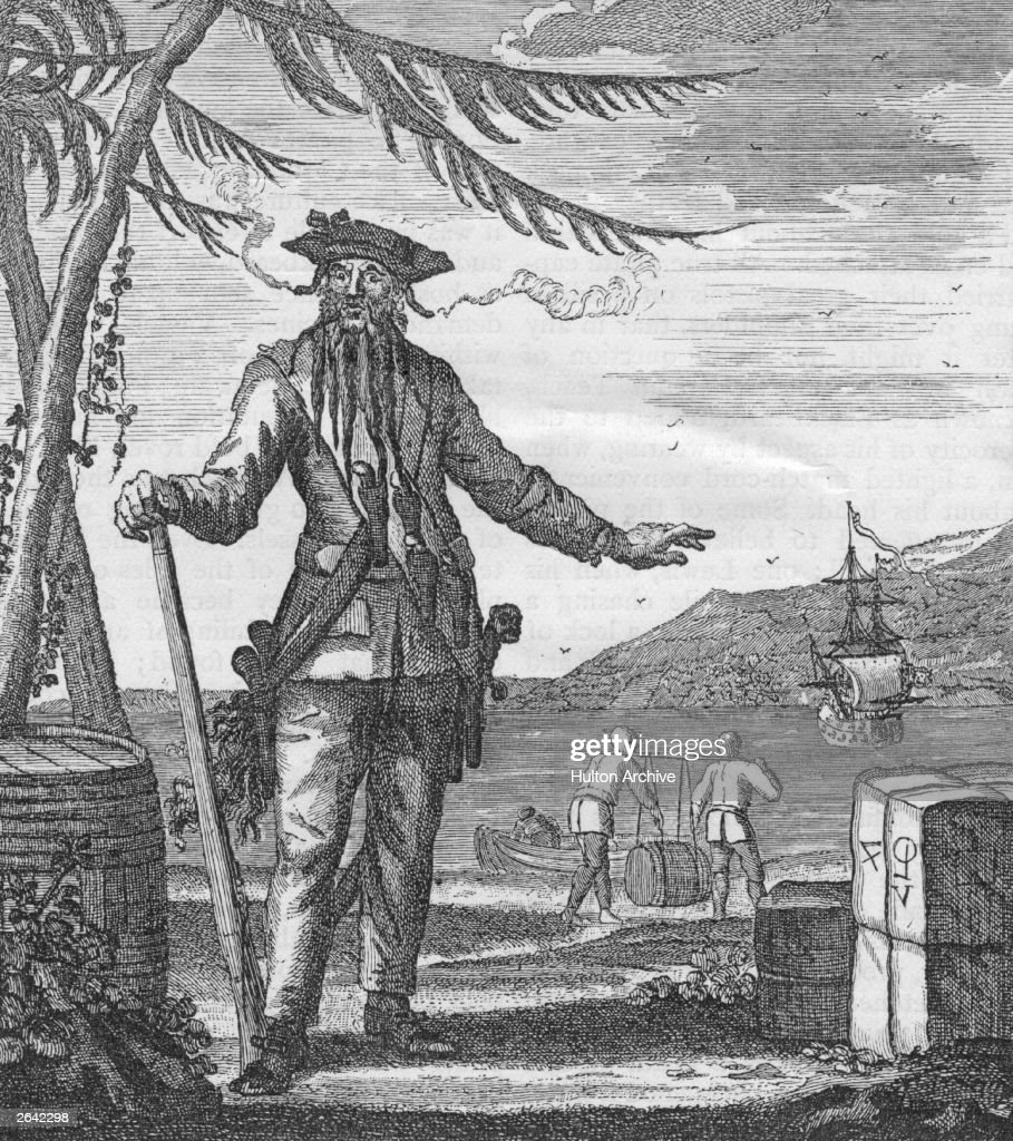 Captain Edward Teach or Thatch. who died in 1718. was also known as... News Photo - Getty Images