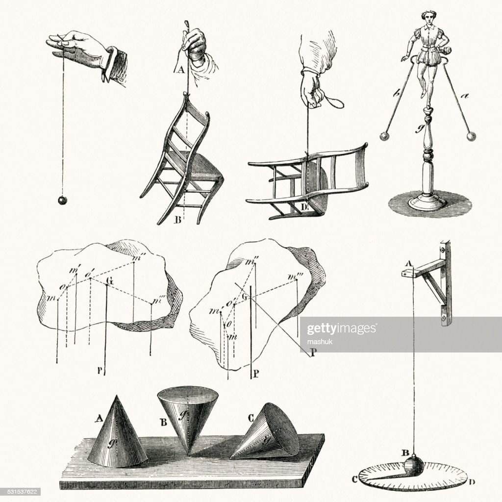 Center Of Gravity Schematic Drawings High-Res Vector