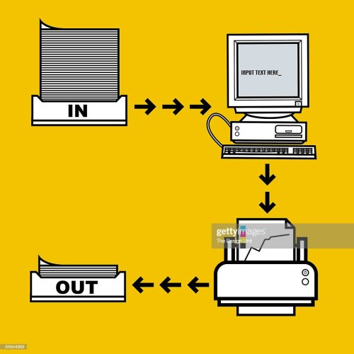 small resolution of computer workflow diagram stock illustration