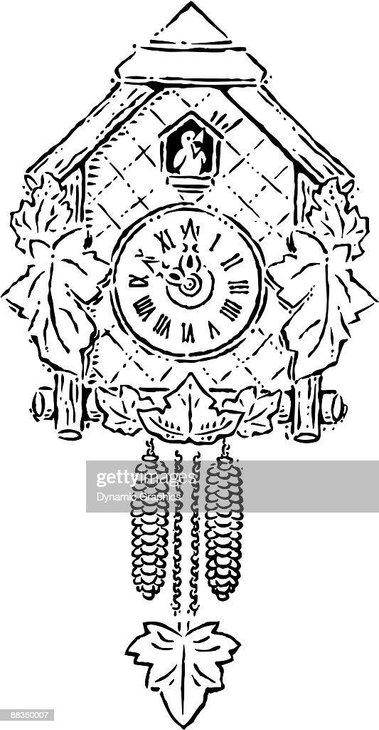 A Cuckoo Clock Striking Ten Oclock stock vector   Thinkstock