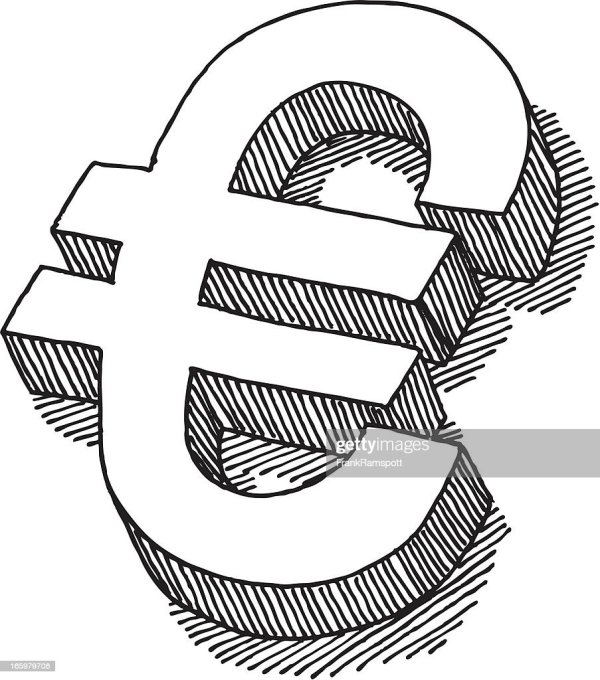 Euro Sign Drawing Vector Art Getty