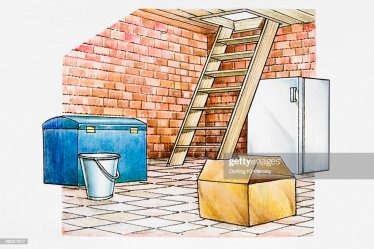 cellar illustrations down cartoons clip ladder leading rf icons gettyimages