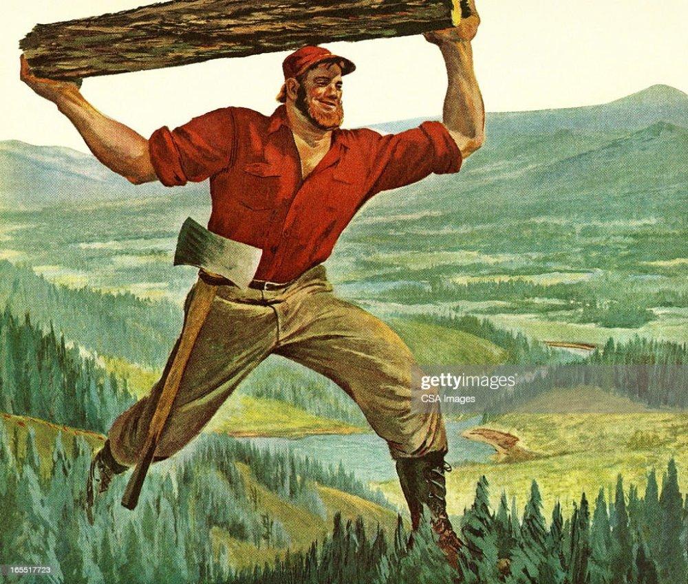 medium resolution of paul bunyan carrying a log