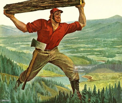 small resolution of paul bunyan carrying a log