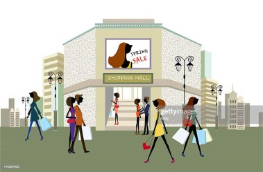 Shopping Mall Cartoon