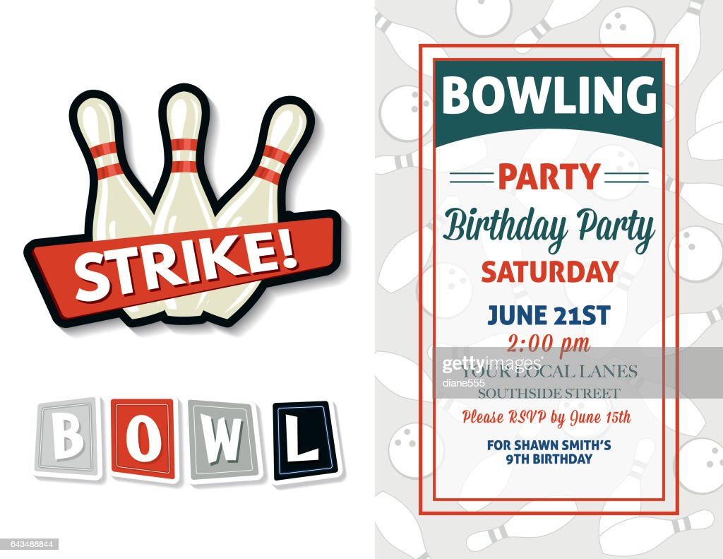 https www gettyimages com detail illustration retro style bowling birthday party royalty free illustration 643488844