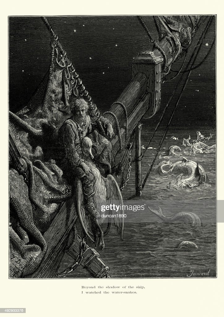 Rime Of The Ancient Mariner Water Snakes High Res Vector