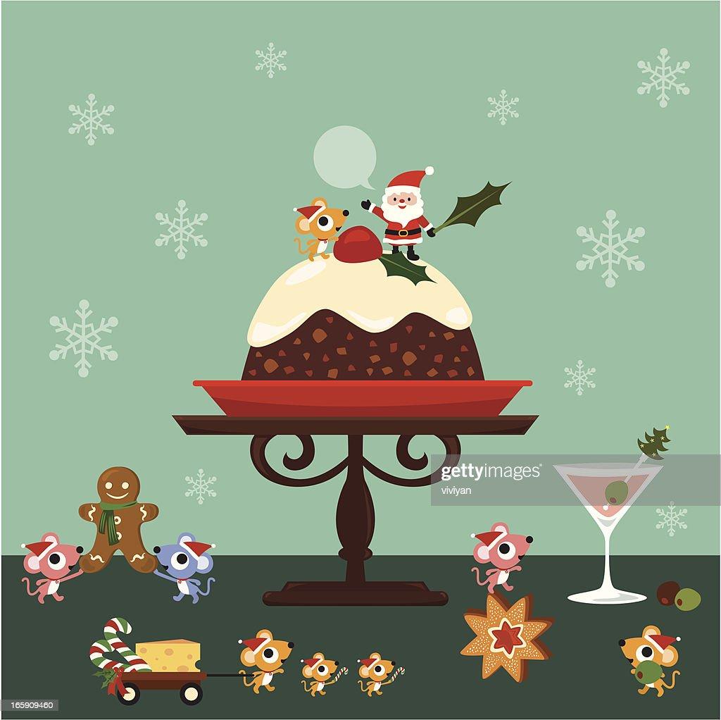 Top Christmas Cake Stock Illustrations Clip Art Cartoons