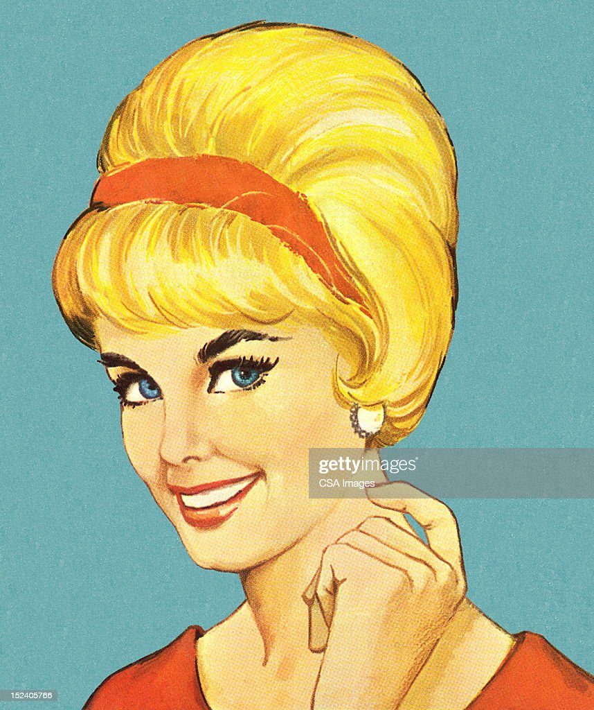 top blonde hair stock illustrations
