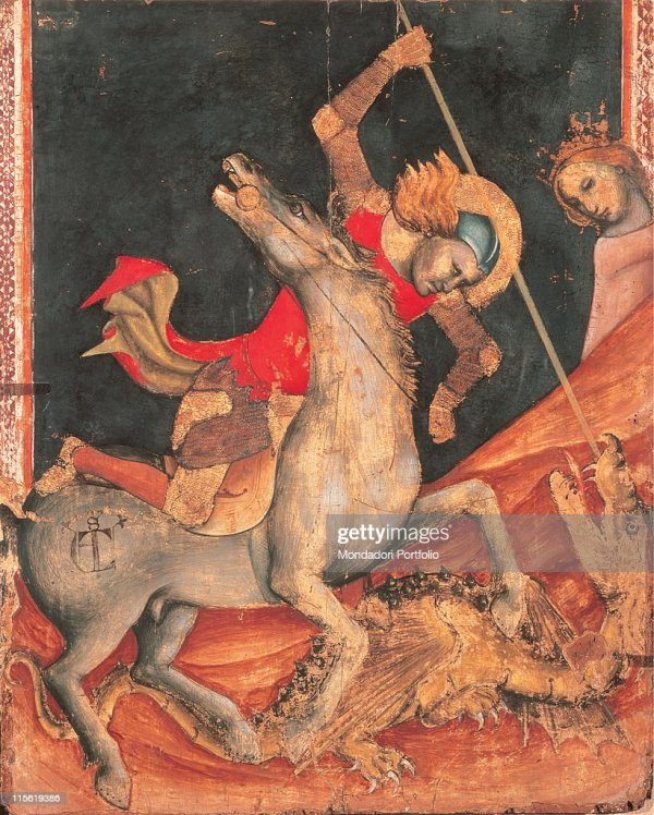 St Georges Battle With Dragon Vitale Degli Equi