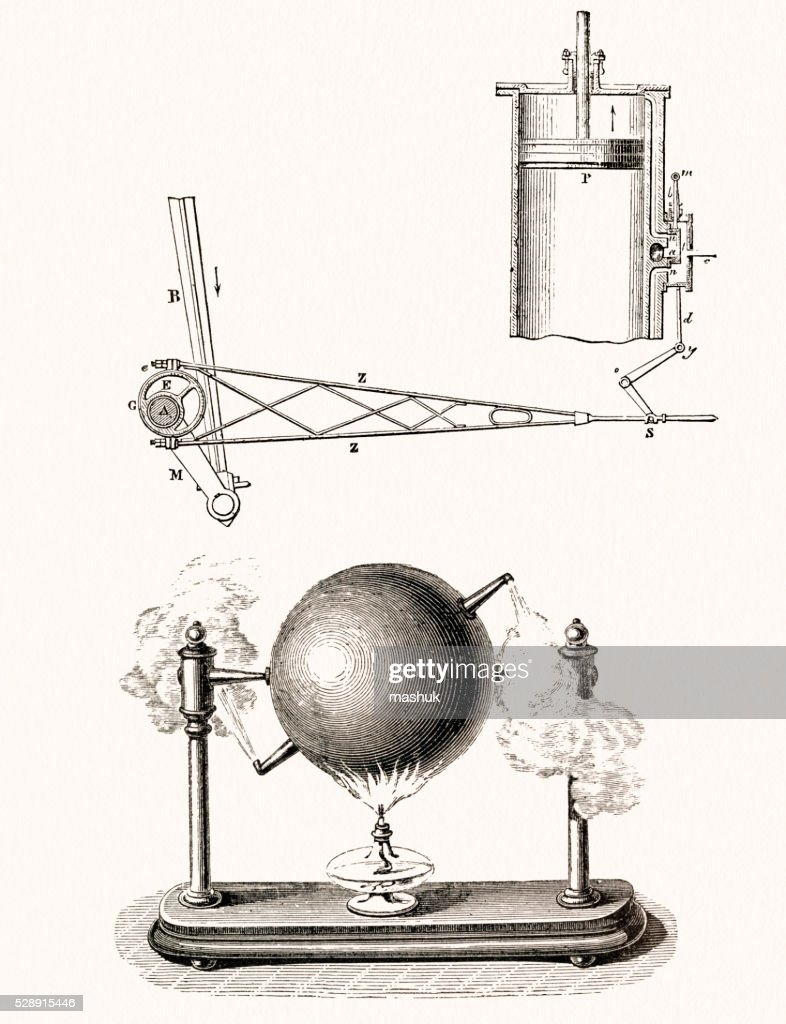 hight resolution of steam engine schematic drawing stock illustration