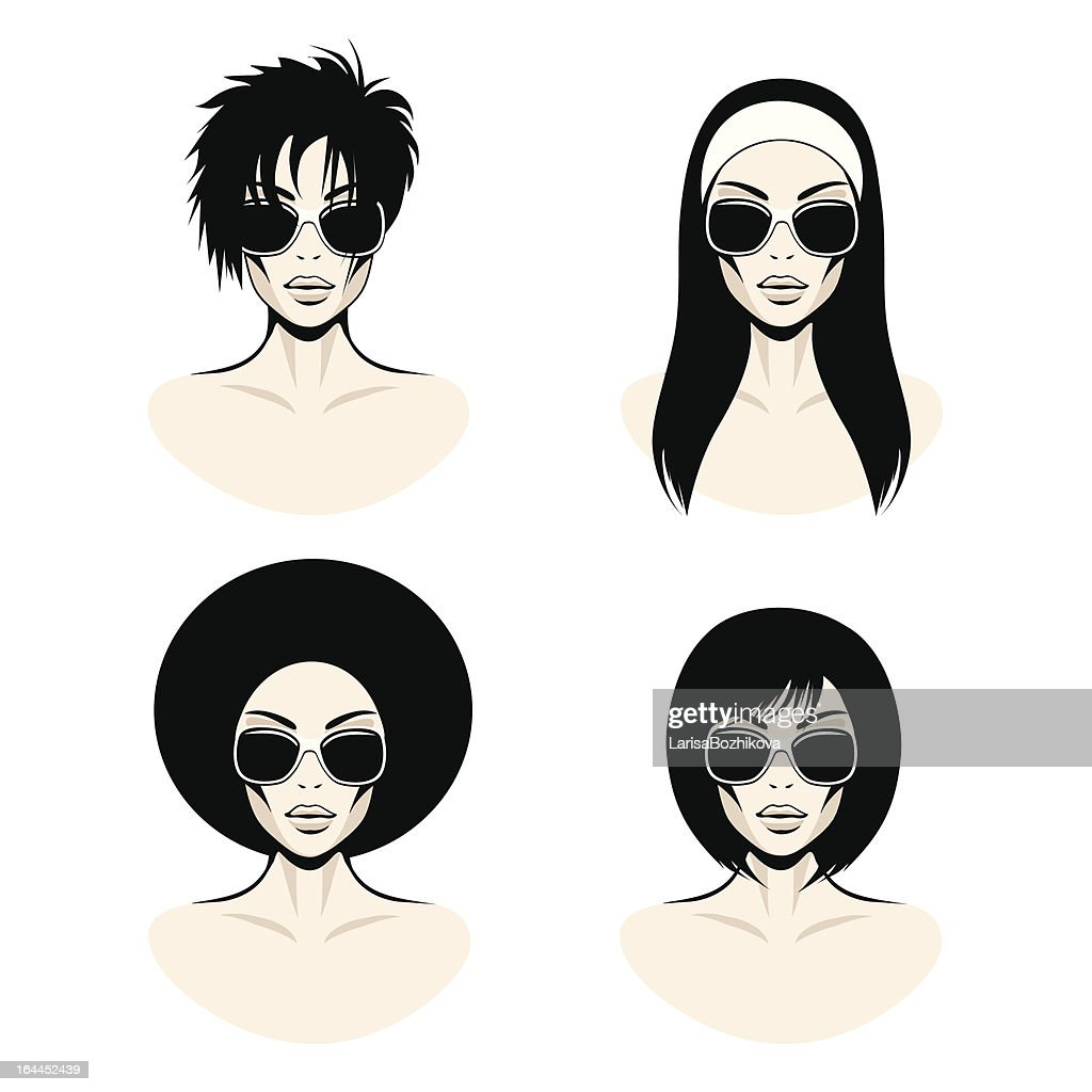 straight hair stock illustrations